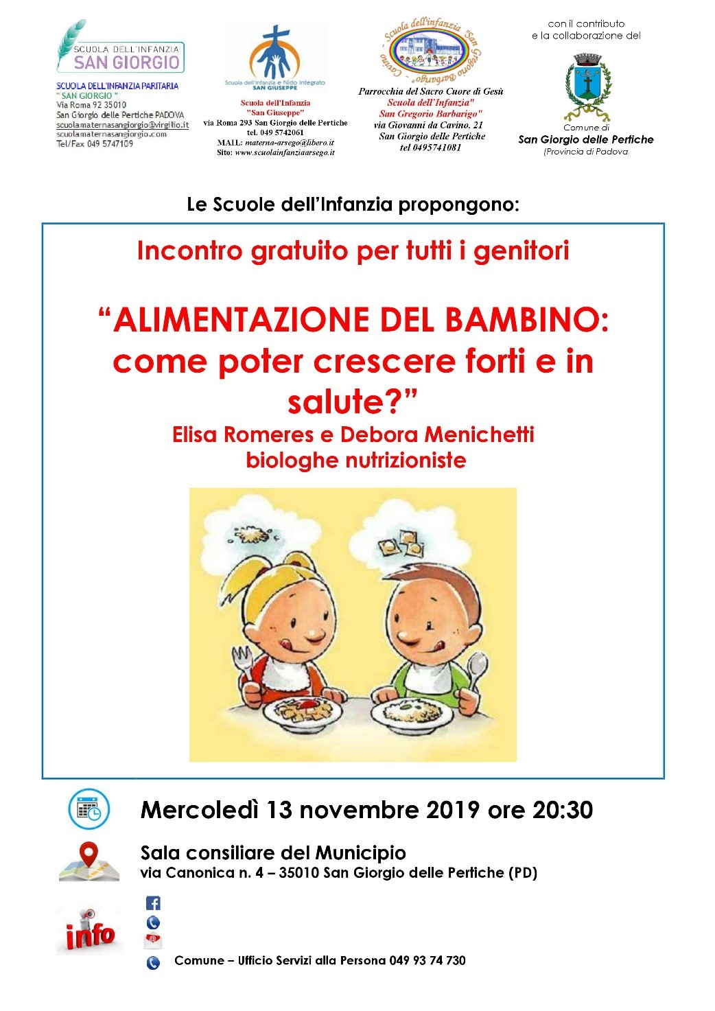 Alimentazione del bambino - Come poter crescere forti e in salute? @ Sala Consiliare del Municipio | San Giorgio delle Pertiche | Veneto | Italia